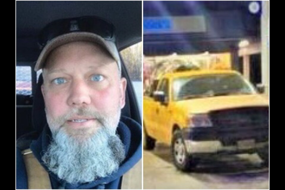 William Nadeau, who drives a bright yellow Ford F-150, has not been seen since Jan. 6, 2021.