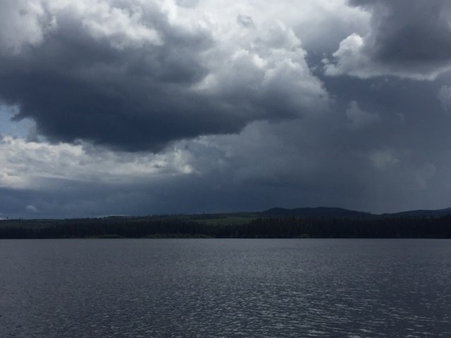 Rosmarie Vonah - July 13, 2019 Norman Lake clouds