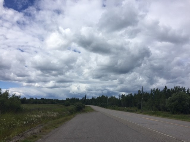 Rosmarie Vonah - July 17, 2020 open road clouds
