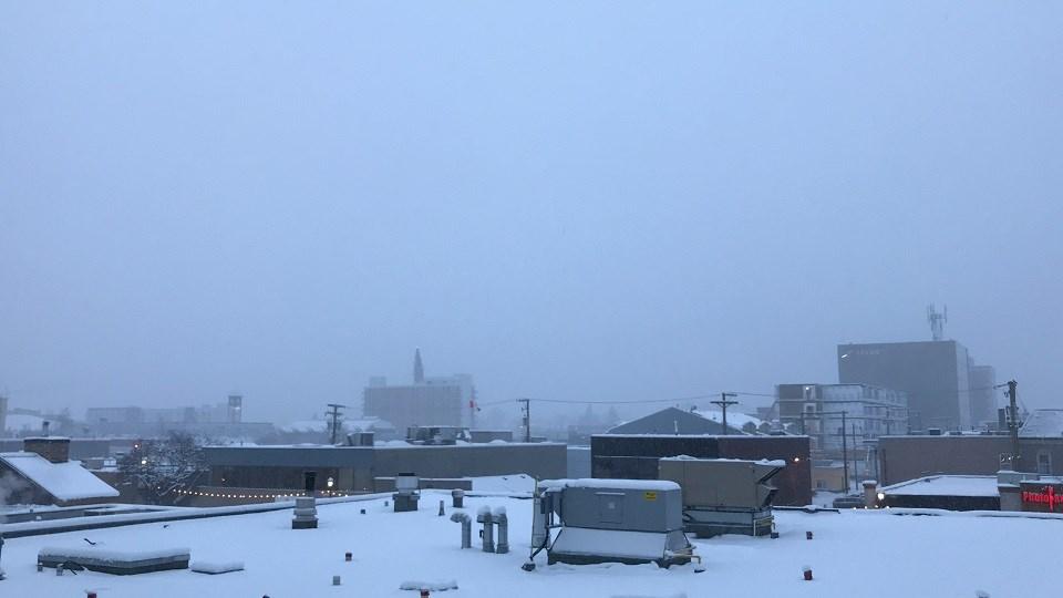 Snowy and foggy morning - Dec. 16, 2019