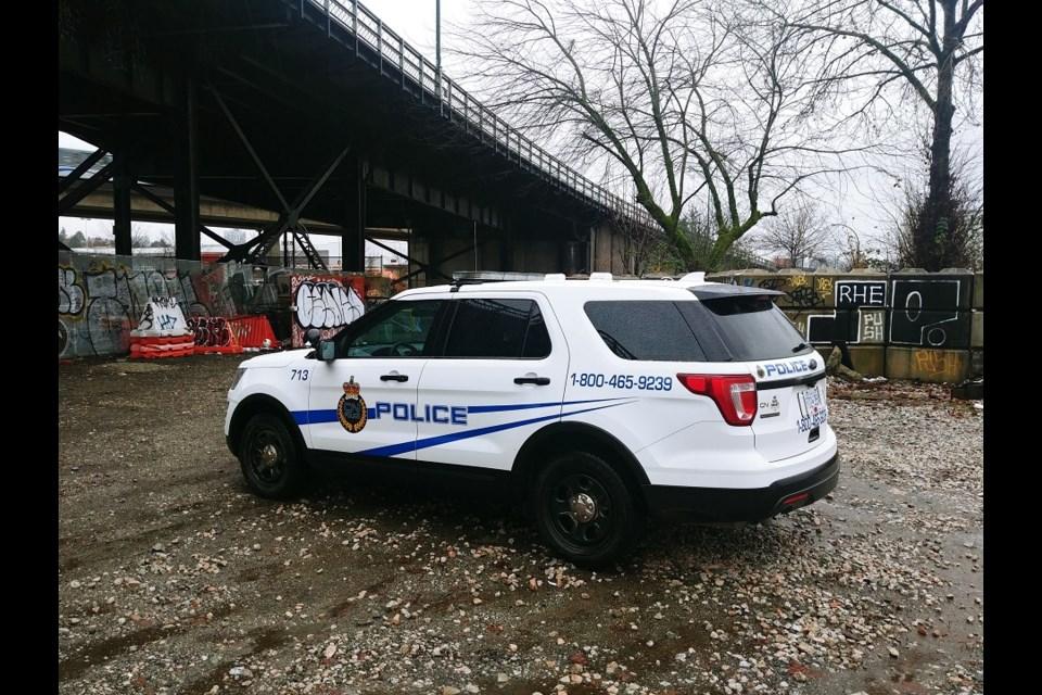 CN Police vehicle.