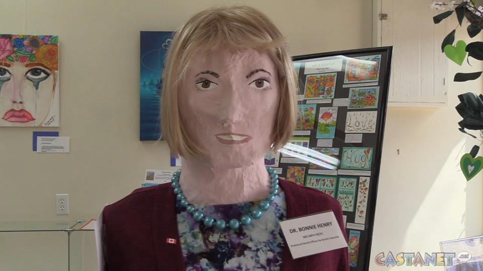 Dr. Bonnie Henry sculpture