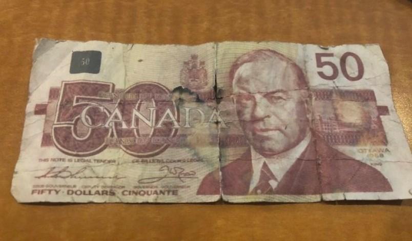Fake 50 dollar bill