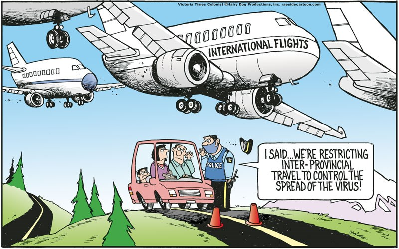 Cartoon: COVID-19 travel restrictions - PrinceGeorgeMatters.com