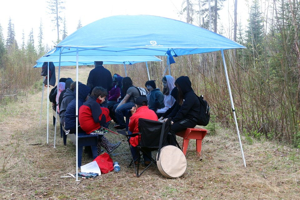 Students learned Lahal, a traditional game of First Nations people. (via Hanna Petersen)