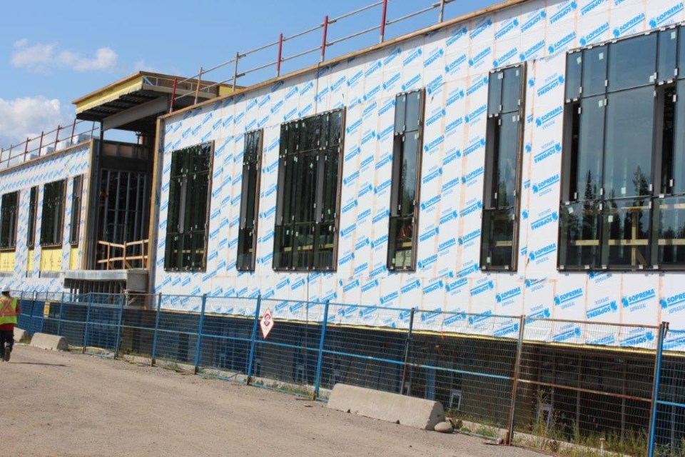 The new Kelly Road Secondary School building is one year away from completion. (via School District No. 57)