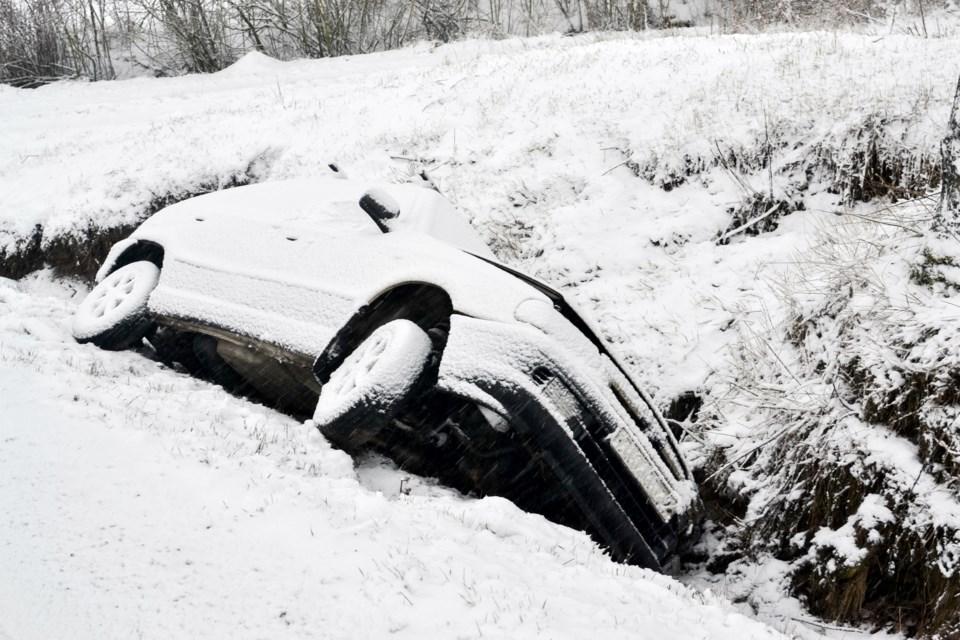 car snow crash