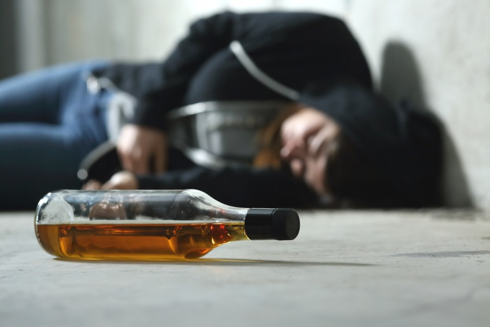 Drunk on the floor