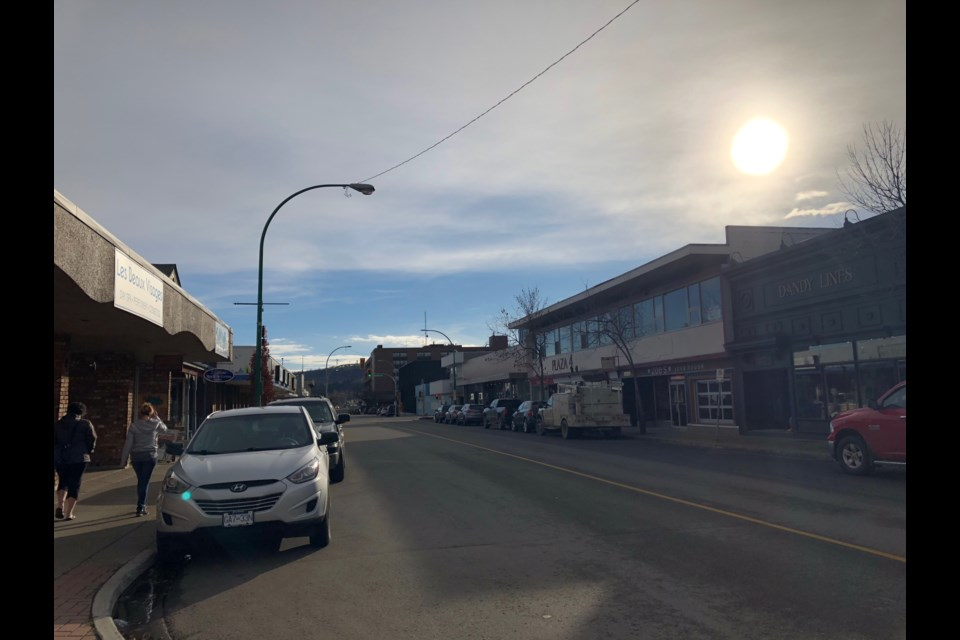 Downtown Prince George in November 2018 (via Hanna Petersen).