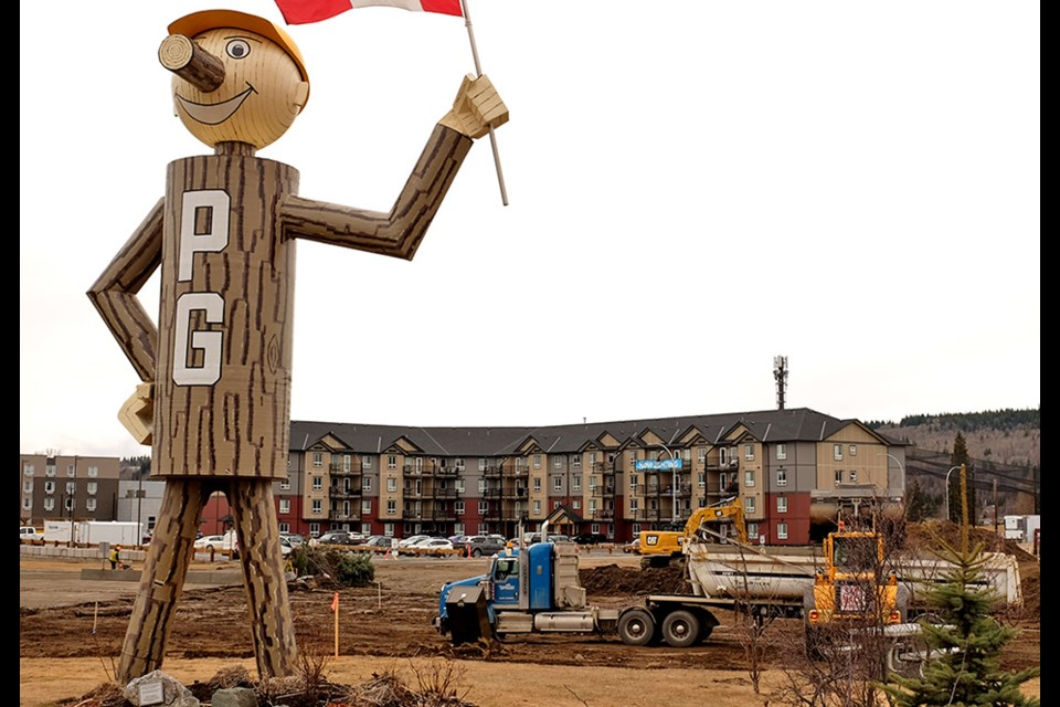Construction for two new apartment buildings is beginning near Mr. PG