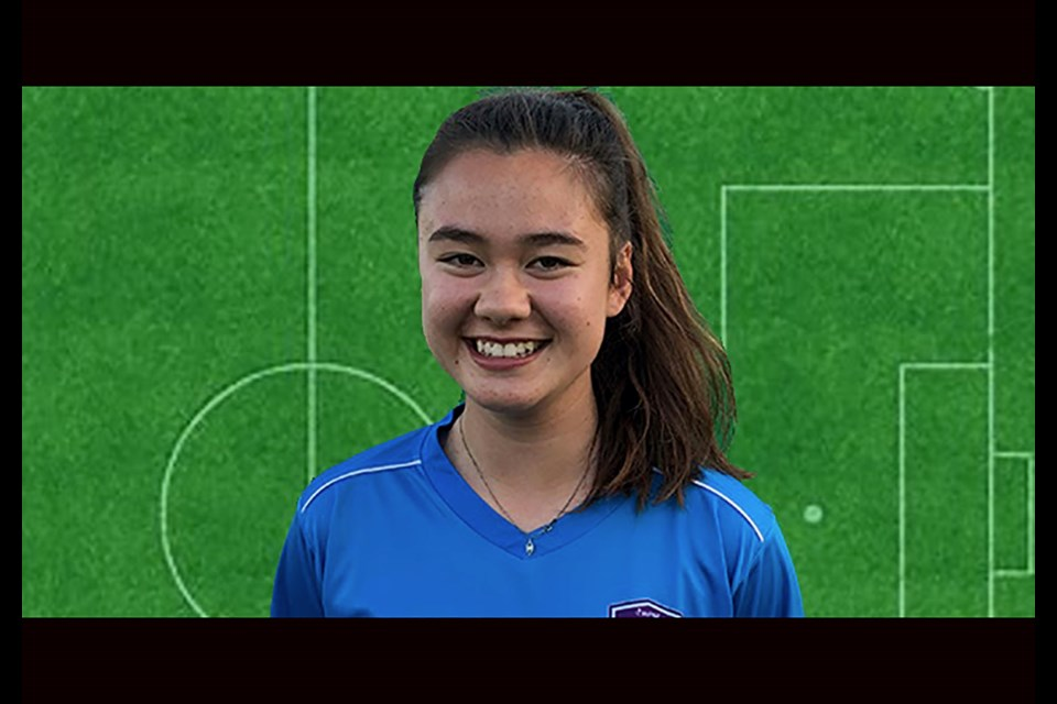 Kaya Oro Martin, player for UNBC and Vancouver Island FC in the Women's Premier Soccer League (via Vancouver Island FC)