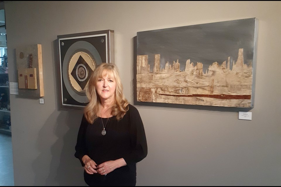 Well-known local artist Melanie Desjardines is showcasing her work at the Central Interior Railway and Forestry Museum until July 30.