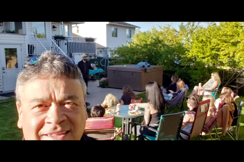 Mike McGuire, a well-known local comedian, is offering Prince George residents a chance to host a Wheely Funny Garden Party with proceeds going to the Wheelin' Warriors of the North fundraising efforts for the BC Cancer Foundation. Mike's partner in comedy, Cody Malbeuf, is performing in this recent selfie.