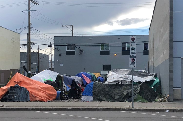 The City of Prince George intends to serve notice of trespass to people camping on a vacant lot on George Street, across from the court house, on Friday morning. The city will be seeking a civil injunction to remove unauthorized encampments, the city announced on Thursday evening.