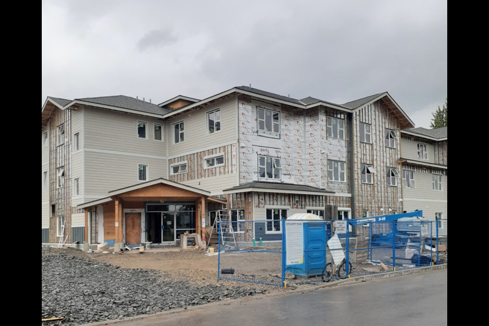 This is the two-phase transitional housing unit being built as part of My Sister's Place, the Prince George & District Elizabeth Fry Housing Society transitional housing complex on 14th Ave.
