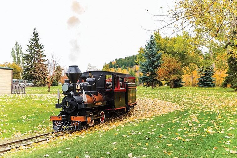 The Little Prince makes its way around the tracks at Lheidli T'enneh Memorial Park on Saturday morning. The 109-year-old train was running 11 a.m. to 3 p.m. all Thanksgiving weekend.