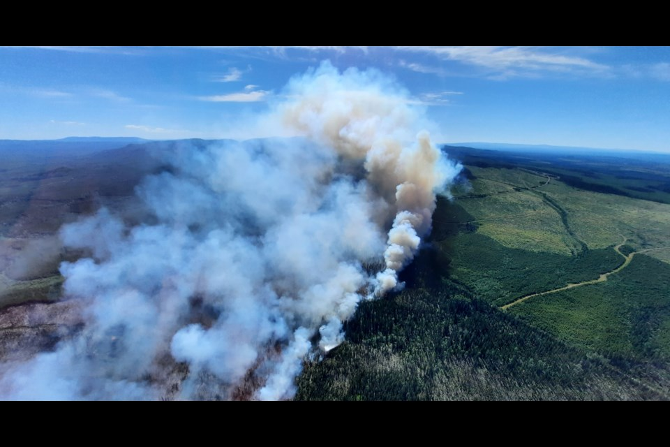 Chilako Wildfire in the Prince George Fire Centre on July 6.