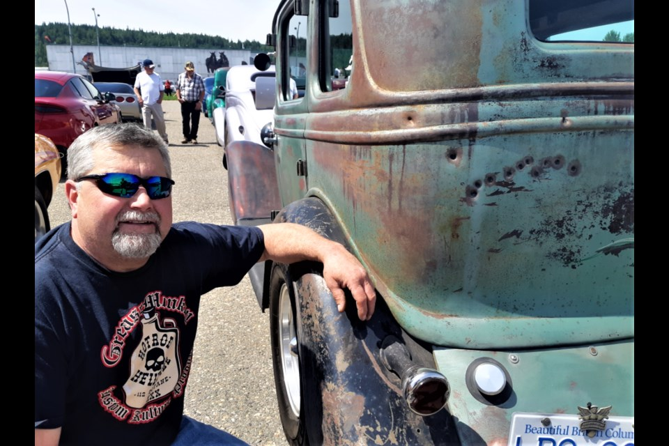 Stan Todoruk left the bullet holes intact in his 1934 Ford sedan. He was more concerned about repairing the damage of an accident to get his car road-worthy again in time for Sunday's Cruisin' Classics Charity Cruise.