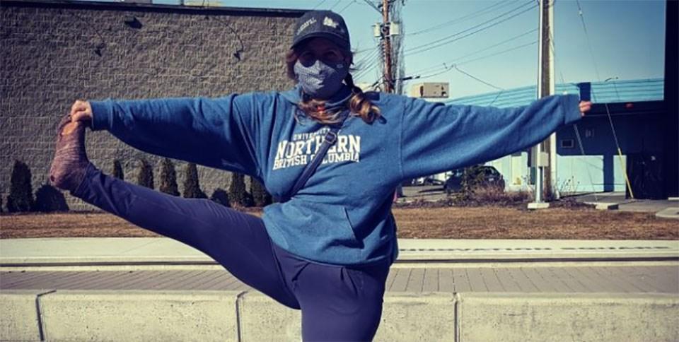 Downtown unhoused yoga