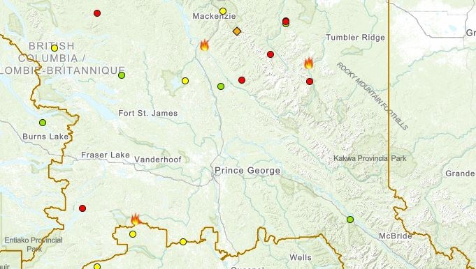 PGFC Wildfires July 5