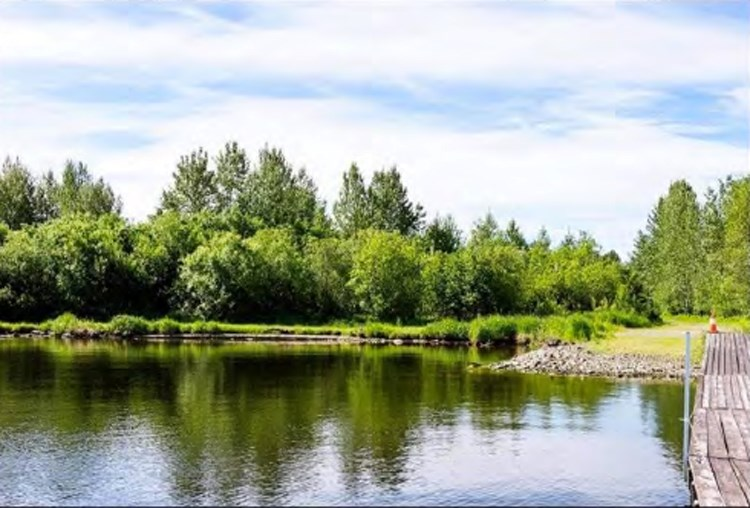 The site of a proposed 100-campsite resort is seen in an undated photo presented as part of a report to the Regional District of Fraser-Fort George board on Thursday.