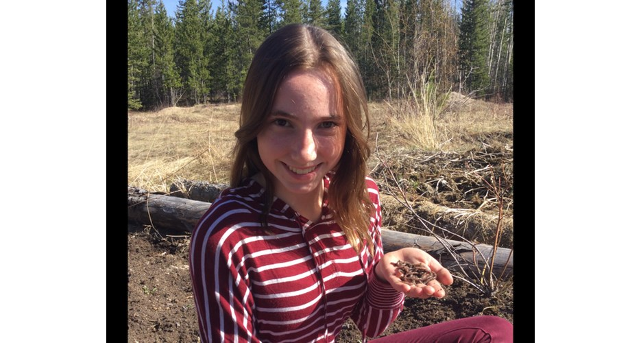 Jemma Blattner, a Grade 9 student from Nechako Valley Secondary in Vanderhoof, will have her science project showcased virtually during the Canada Wide Science Fair.