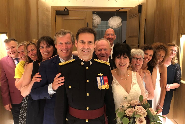 With public health restictions lifting in B.C., wedding season is back on. Plenty of familiar Prince George faces were at the wedding of John Milne and Nancy Paterson, formerly of Prince George, in New Westminster on Saturday.