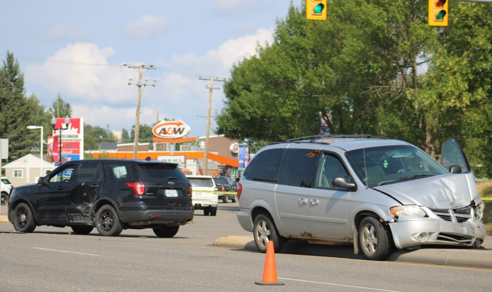 collision, 20th and Highway 16 - July 25, 2021