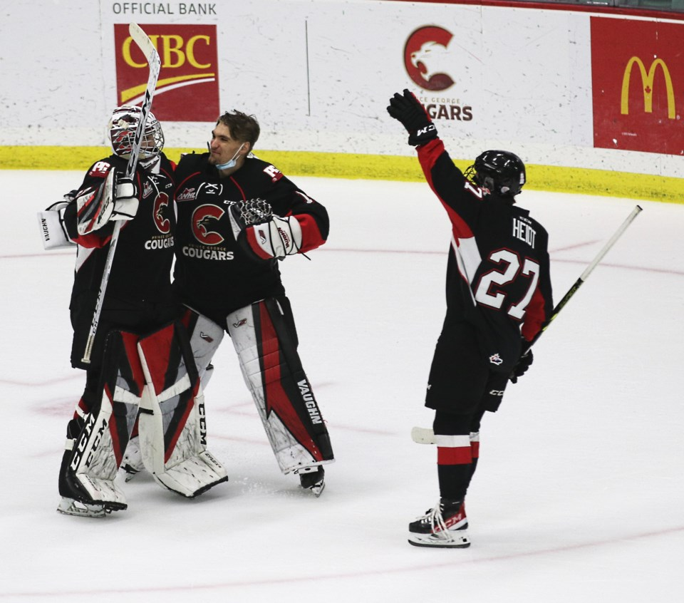 23 Cougars Ty Young celebrates first win in preseason Sept 18 2021