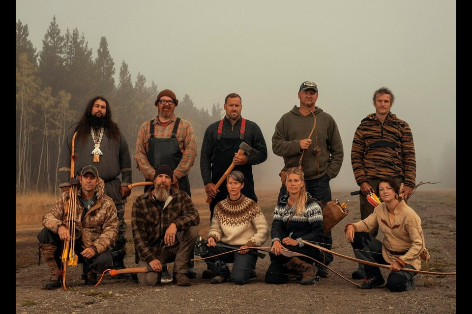 Alone Season 8 Contestants gather  on the shores of Chilko Lake southwest of Williams Lake last September before they began filming their own adventures trying to become the last one standing.