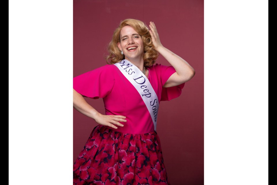 """Richmond-based actor Nick Rose was one of six """"female pageants"""" in the musical Pageant: A Musical Comedy Beauty Contest"""