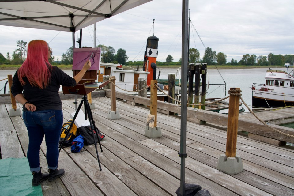 On Sept. 4, artists raced against the clock as they paint at one of the 35 locations assigned to them at random along the waterfront from London Farm to Garry Point Park.