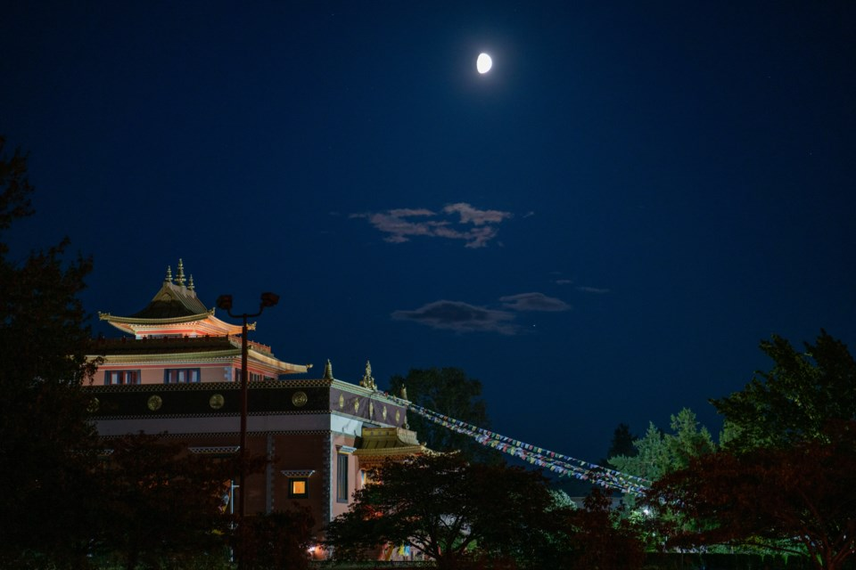 Temple under the moonlight