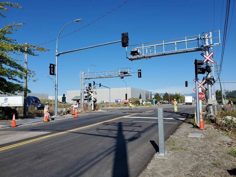 These new signals at Nelson and Blundell roads were activated on Wednesday. Photo submitted