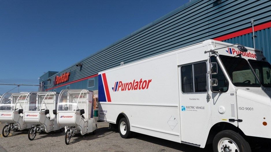 Purolator electric truck