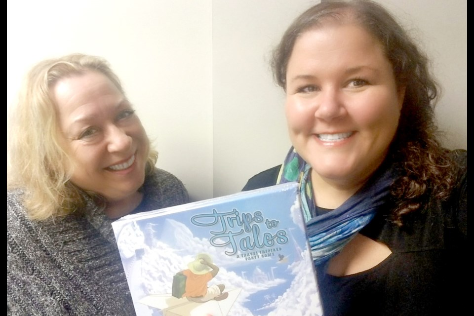 Richmond resident Rhonda Dashevsky (left) and her colleague Kathryn Comeau-Wong are hoping to spark a conversation about travelling through their new game Trip to Tales.