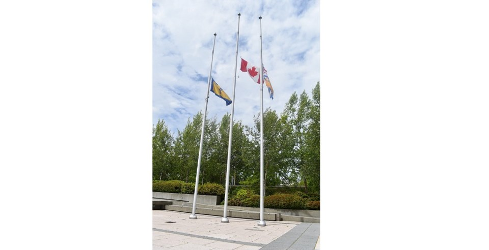 City of Richmond flags lowered