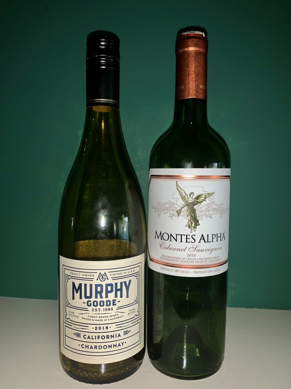 Chardonnay and Cabernet wines
