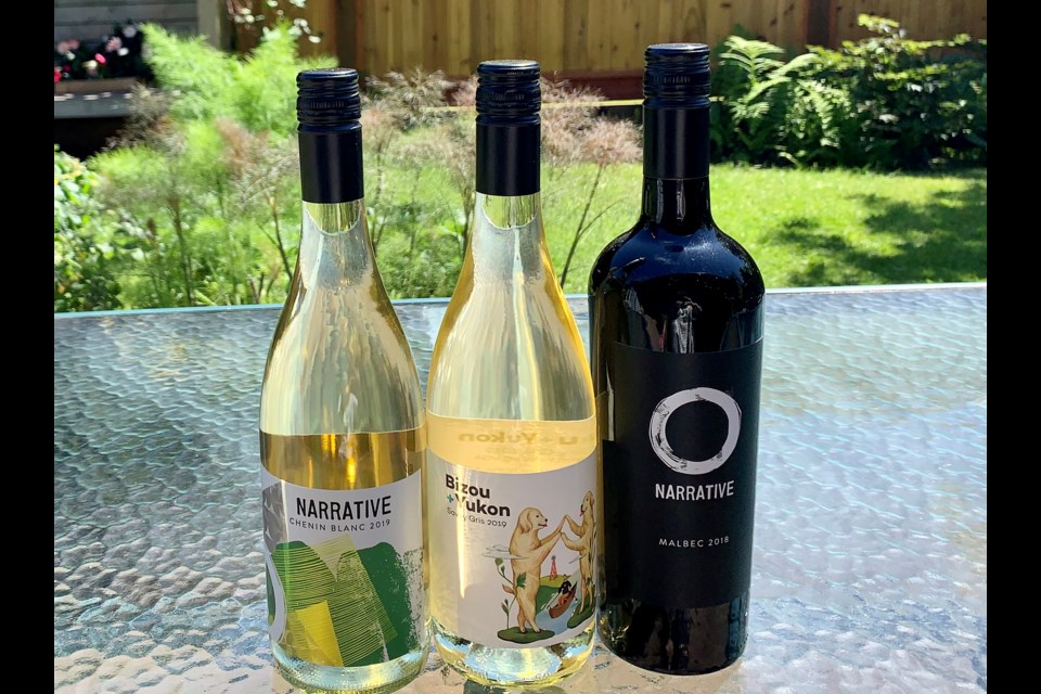 Listen to the stories from Narrative Chenin Blanc and Malbec and get smart with Bijou + Yukon Savvy Gris.