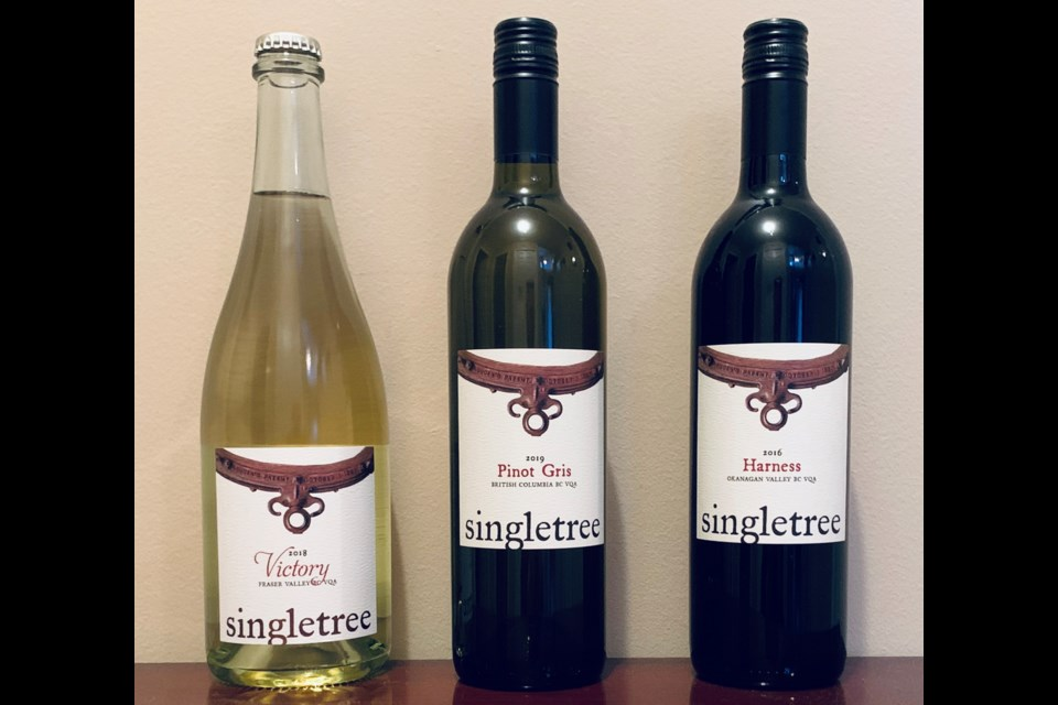 Singletree Victory, Pinot Gris, and Harvest are available at the Fraser Valley winery and Save-On VQA wine stores.