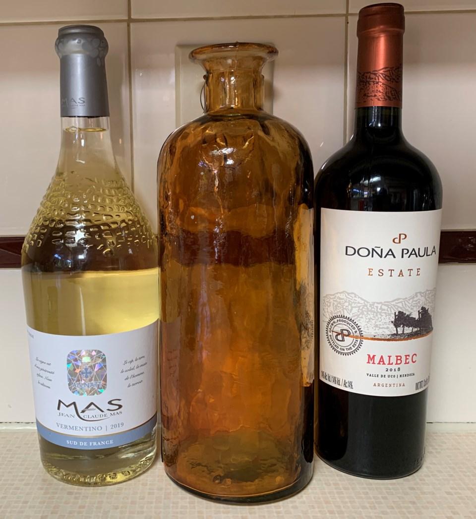 Vermentino and Malbec wines