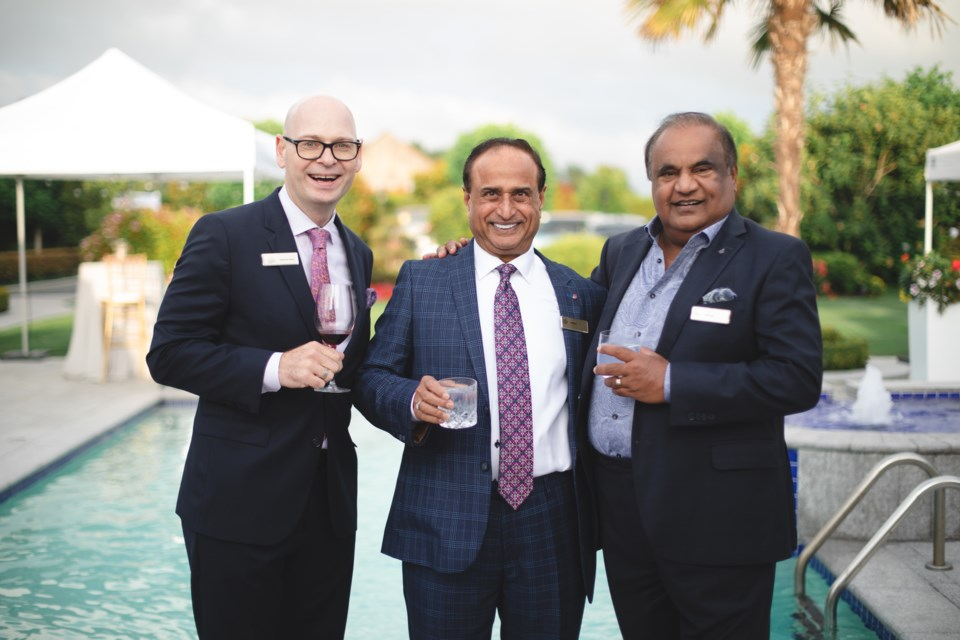 (from left to right) Malcolm Berry – BC Children's Hospital Foundation – President and CEO, Entrepreneur Manjit Lit and Peter Raju.
