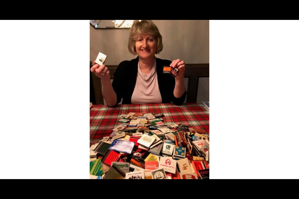 Former Richmond resident Joanne Kendrick has found a box full of books of matches which are bringing baack many memories for Richmondites