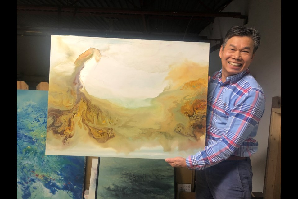 Richmondite John Lin will be painting artwork in front of the camera at the virtual festival.