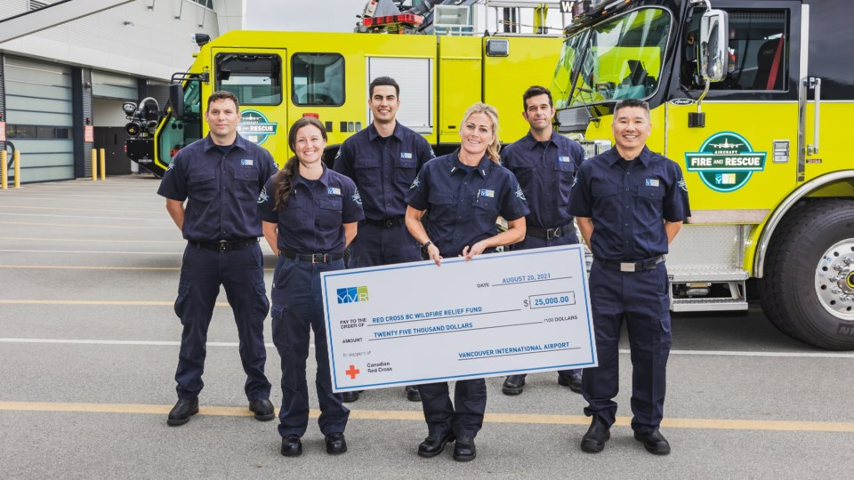 YVR donates to red cross wildfire relief