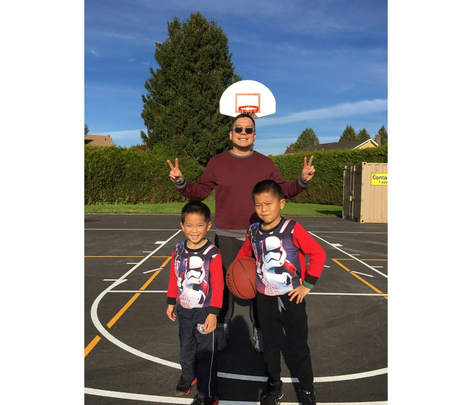 Wong family Father's Day contest