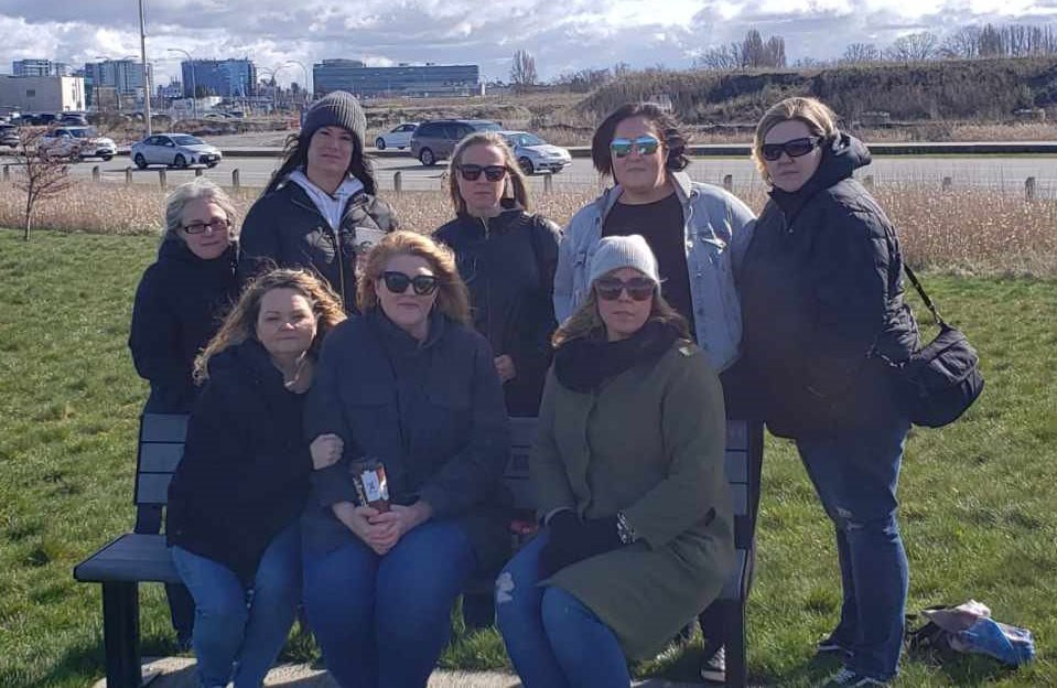 Family and friends of Christy Mahy gathered Monday, after Erjon Kashari's sentence, at a memorial bench for Christy, near the spot where she died in 2014