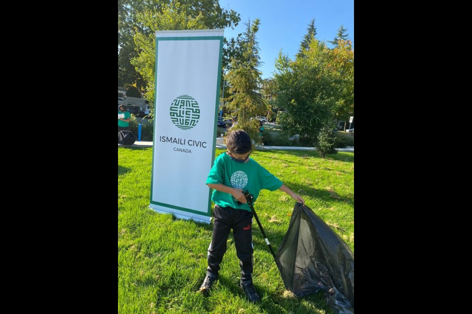A youth volunteer during Richmond's first Global Ismaili CIVIC Day activity in B.C.