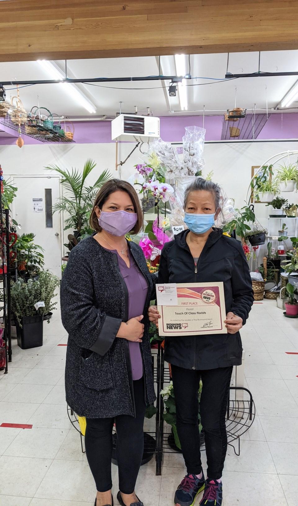 Richmond News staff and florist