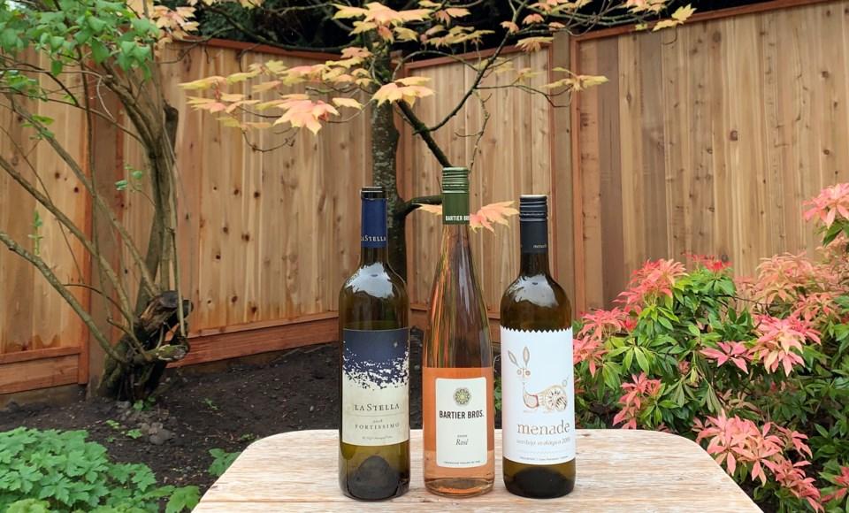 La Stella Fortissimo, Menade Verdejo, and Bartier Brothers Rosé wines